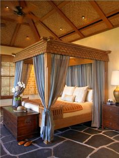 39 dreamy ideas for bedrooms with canopy bed - Orange Canopy Interior