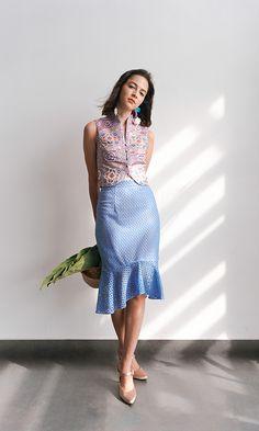 Blouse Batik, Batik Dress, Lace Dress, Trendy Dresses, Simple Dresses, Casual Dresses, Batik Fashion, Ethnic Fashion, Cheongsam Modern