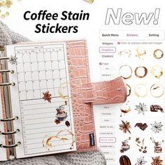 #Regram via @CMscvJipdnM Planner Layout, Planner Ideas, Monthly Planner, Coffee Flower, Custom Planner, Coffee Staining, Emoji, Create Yourself, Mandala