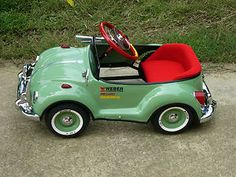 Image detail for -Green Bug Pedal Car Original VW Bug Pedal Car for Kids and Collection ...
