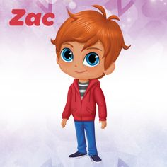 In the Nick Jr. show Shimmer and Shine, Zac is Leah's friend and neighbor who is completely unaware of her twin genies! He is quirky, kindhearted, bright and goofy.
