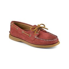 Women's Authentic Original Weathered 2-Eye Boat Shoe - Boat Shoes |... (5.400 RUB) via Polyvore