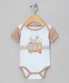 This Cutie Pie Baby Blue 'Tools' Bodysuit - Infant by Cutie Pie Baby is perfect! #zulilyfinds