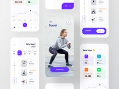 Workout app for women designed by Shojol Islam for RonDesignLab. Connect with them on Dribbble; Wireframe, Ux Design, Graphic Design, Online Forex Trading, Sports App, Apps, Ui Design Inspiration, Interface Design, User Interface