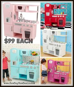 KidKraft Bubblegum Vintage Kitchen | Zoeyu0027s Xmas Kitchen Set | Pinterest |  Vintage Kitchen, Playhouse Furniture And Kitchens