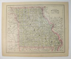 1901 West Virginia Map Vintage Art Of WV State Wedding Gift For Couple Antique Wall