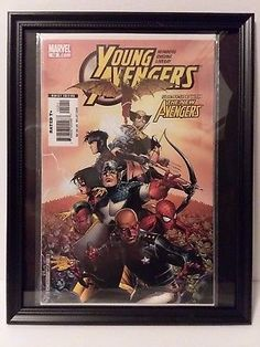 FRAMED COMIC BOOK Young Avngers #12 Marvel Comics FREE BONUS FRAME Luke Cage