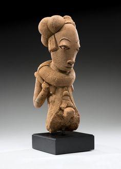Nok figurative sculpture, Nigeria, c.200BC-200AD (terracotta)