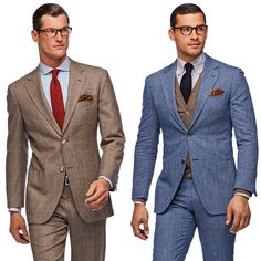 The soft shoulder and patch pockets on these Roma suits make them perfect for wearing outside the office.