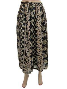 Cotton Long Skirt Black Floral Printed Skirts Womens Clothing India Mogul Interior, http://www.amazon.com/gp/product/B00931RPPA/ref=cm_sw_r_pi_alp_T2Spqb1J7QS94