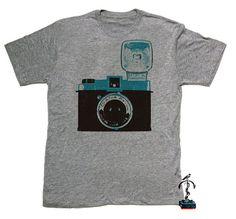 Mens Tshirt  Diana vintage Camera  tri blend by COTTONSPACESHIP, $24.00