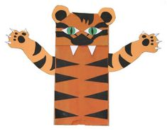 """Paper Bag Tiger Craft"""