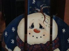 pictures of hand painted snowman | ... : Vintage Sled with Hand Painted Snowman and Gingerbread House