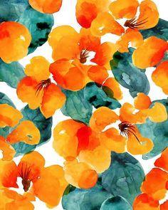 Watercolor print, ophelia pang