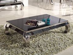 Glamour salongbord m/ sort herdet glass Decor, Furniture, Table, Glass, Coffee Table, Home Decor