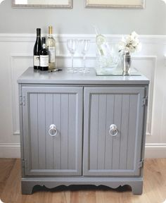 Amazing thrifting find turned into wine bar - includes step by step information