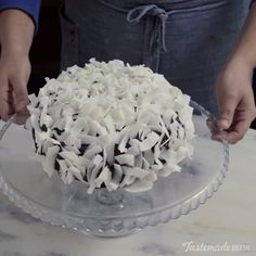 Chocolate Coconut Cake - you can also use boxed cake mix & then make the coconut filling & the chocolate gaunche ( icing ). Köstliche Desserts, Delicious Desserts, Yummy Food, Sweet Recipes, Cake Recipes, Dessert Recipes, Frosting Recipes, Cookies Et Biscuits, Cake Cookies