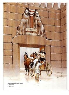 Mycenaean rail chariot at the Lion Gate at Mycene, B. This was the city from which the Achaean assault on Troy was planned, led and co-ordinated. Greek History, Ancient History, Art History, European History, Ancient Aliens, American History, Mycenaean, Minoan, Turm Von Babylon