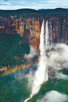 The tallest waterfall in the world. Salto Angel. Venezuela.