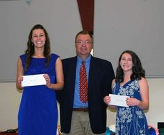 Congratulations to Allie Costley and Katy Harrison who were awarded Rotary Club of Dawson County scholarships May 8 during Dawson County High School's honors night.