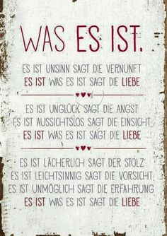 Was es ist - Postkarten - Grafik Werkstatt Bielefe. - Makeup For Eyes The Words, More Than Words, Cool Words, Words Quotes, Me Quotes, Sayings, Letters Of Note, German Quotes, Susa