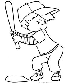 Sports coloring pages - Baseball sheets to print and more! Free, printable sports to color like baseball for kids! Baseball Coloring Pages, Sports Coloring Pages, Spring Coloring Pages, Coloring Sheets For Kids, Coloring Pages To Print, Free Coloring Pages, Printable Coloring Pages, Coloring Books, Kids Coloring
