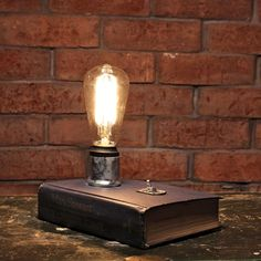 edison bulb book lamp industrial desk lamp bedside lamp edison lamp minimalist lighting librarian giftaccent lamp chic office decor