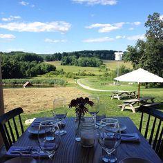 Table with a view | Wyebrook Farm, Pennsylvania, USA