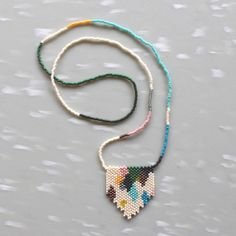 beaded necklace #colorblock