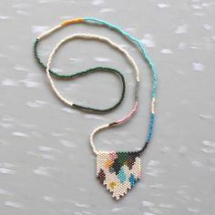 Image of Versicolor Peyote Stitch Necklace