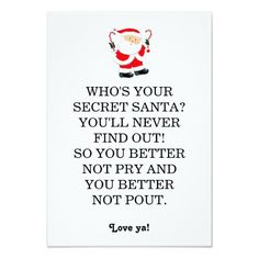 Secret santa poem card christmas ideas pinterest secret santa secret santa poem card christmas ideas pinterest secret santa poems secret santa and poem spiritdancerdesigns Images