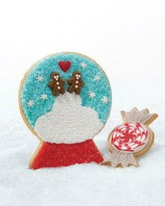 Snow-Globe Cookies How-To  | Christmas Holiday cutout, decorated, or frosted cookies