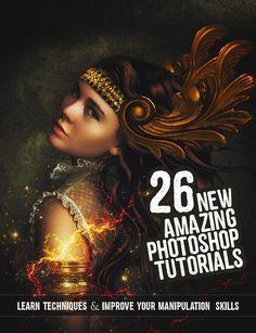 26 New Amazing Adobe Photoshop Tutorials to Improve Your Manipulation #howto #2017tutorials #photoediting #photomanipulation #photoshop2017 #photoshoptutorials #tutorials