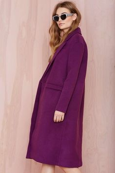 plum wool coat