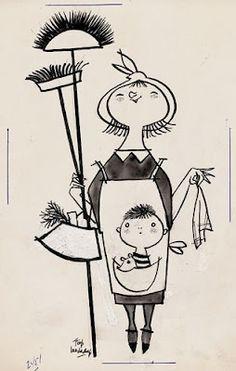 Illustratie uit Plyk van de Petteflet....Mevrouw Helderder van Fiep Westendorp