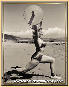 Vintage weight lifting and exercise