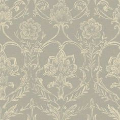 "12""/31cm Wallpaper SAMPLE Sheer Fabric Damask by York Wallcoverings #York"