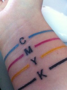 cmyk colour band tattoo