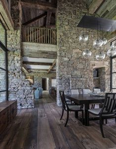 JLF Architects along with Big-D Signature has designed this contemporary mountain-style house in Wilson, Wyoming. Mountain Style, Stone Mountain, Mountain Modern, Wyoming Mountains, Bozeman Mt, Fish Creek, Guest Cabin, Steel Windows, Grand Teton National Park