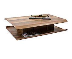 Tavolino in legno con spazio interno Best noce - 120x29x88 cm