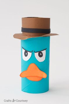 Toilet Paper Roll Perry the Platypus for kids