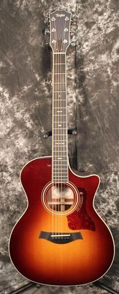 2015 Taylor 714ce Grand Auditorium Cutaway ES2 Acoustic Electric Guitar Vintage Sunburst w/Case #guitartutorials