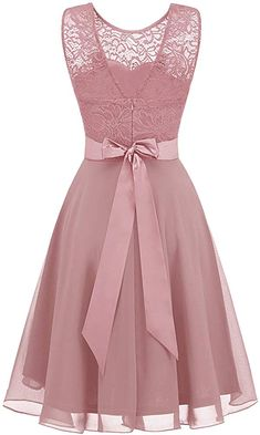 BeryLove Women's Short Floral Lace Bridesmaid Dress A-line Swing Party Dress Pretty Outfits, Pretty Dresses, Beautiful Dresses, Short Lace Bridesmaid Dresses, Lace Dress Styles, Frock For Women, Cute Dresses For Party, Latest African Fashion Dresses, Special Dresses