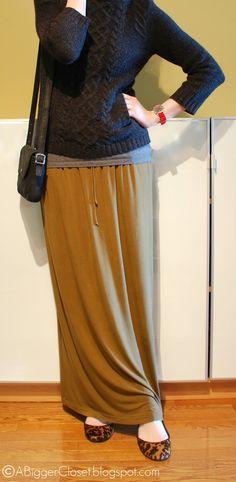 Winter maxi skirt - a little bit frumpy, but cuter alternative to sweatpants...