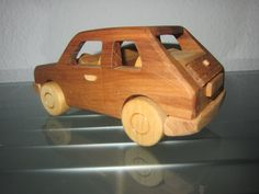 Maluch 126P Polski Bambino wooden car model by woodendreams2013