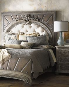 K--Horchow Hooker Furniture Raleigh King Panel Bed