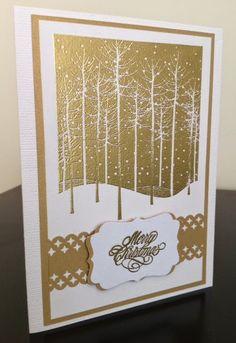 A golden Xmas card.