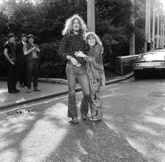 Picture shows Robert Plant of Led Zeppelin ( Best Male Singer) with Sandy Denny (top British Female singer). Picture taken 15th September 1970