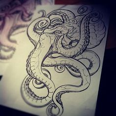 Octopus tattoo is a favorite marine life tattoo design for both women and men. Today, the octopus tattoo is a favorite decorative tattoo. Not only con. Octopus Tattoo Sleeve, Kraken Tattoo, Squid Tattoo, Octopus Tattoo Design, Tattoo Designs, Octopus Tattoos, Tribal Tattoos, Badass Tattoos, Life Tattoos