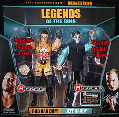 Five Star Rivalry - Jeff Hardy & Rob Van Dam (RVD) Ringside Collectibles Exclusive TNA Toy Wrestling Action Figures by Jakks Pacific! Wwe Action Figures, Custom Action Figures, Acton Figure, Wwe Jeff Hardy, Rob Van Dam, The Hardy Boyz, Wwe Game, Wwe Toys, Brothers In Arms